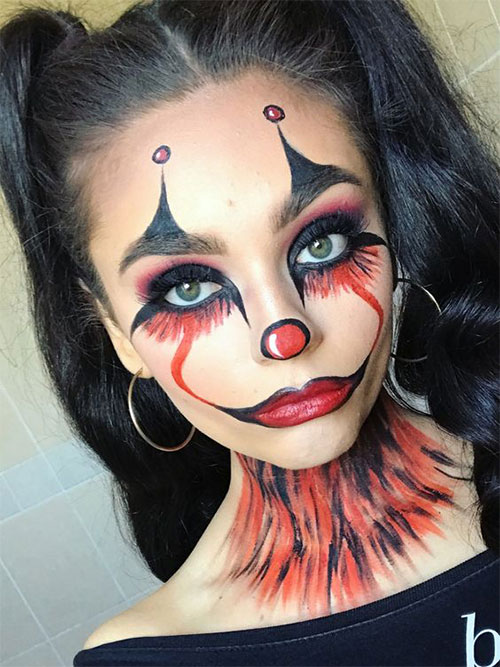 Creepy-Clown-Halloween-Makeup-Looks-2021-15