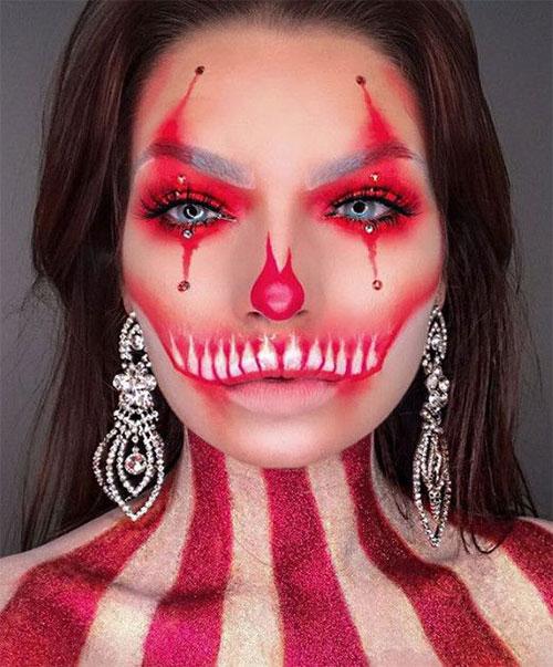 Creepy-Clown-Halloween-Makeup-Looks-2021-16