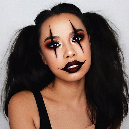 Creepy-Clown-Halloween-Makeup-Looks-2021-4