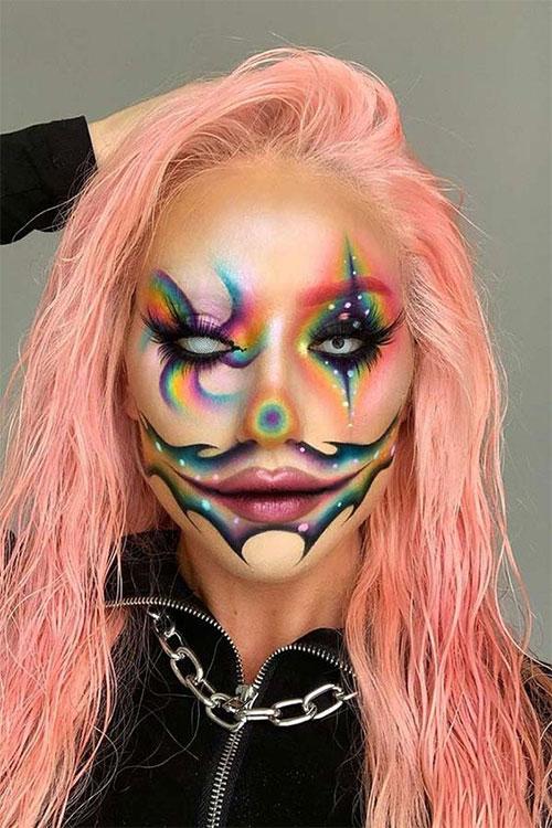 Creepy-Clown-Halloween-Makeup-Looks-2021-5