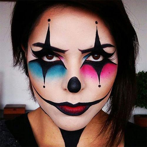 Creepy-Clown-Halloween-Makeup-Looks-2021-6