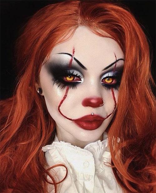 Creepy-Clown-Halloween-Makeup-Looks-2021-7
