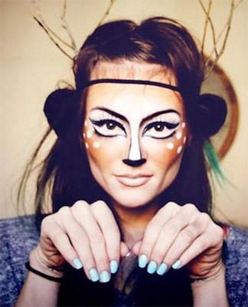 Cute-Easy-Deer-Make-up-Ideas-For-Halloween-2021-1