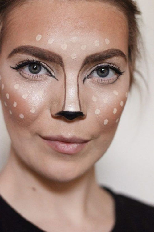 Cute-Easy-Deer-Make-up-Ideas-For-Halloween-2021-12