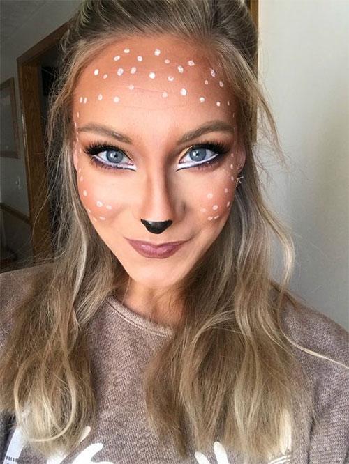 Cute-Easy-Deer-Make-up-Ideas-For-Halloween-2021-13