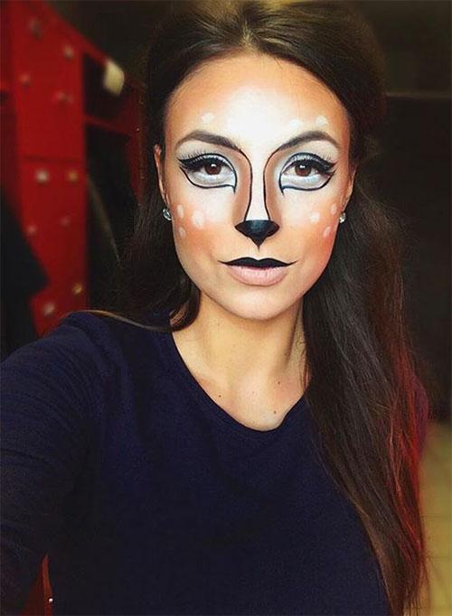 Cute-Easy-Deer-Make-up-Ideas-For-Halloween-2021-14