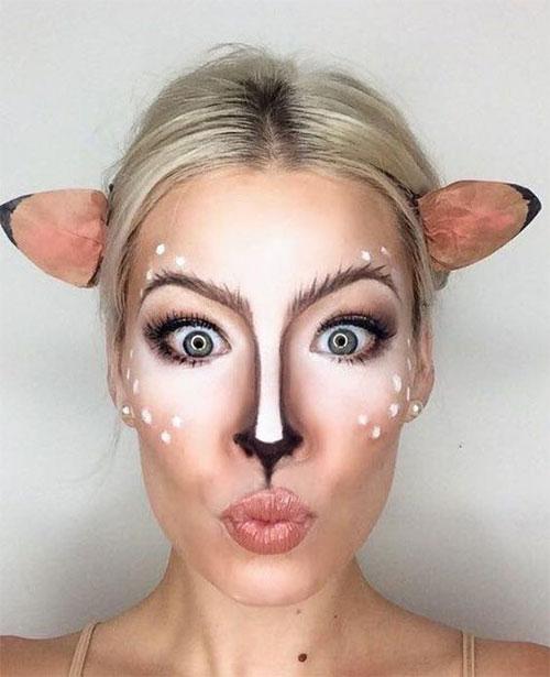 Cute-Easy-Deer-Make-up-Ideas-For-Halloween-2021-15