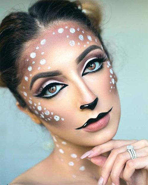 Cute-Easy-Deer-Make-up-Ideas-For-Halloween-2021-3