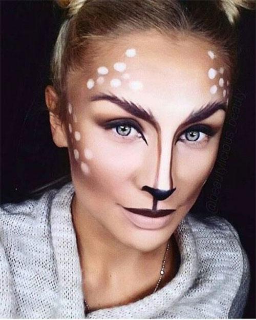 Cute-Easy-Deer-Make-up-Ideas-For-Halloween-2021-6