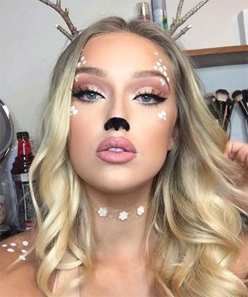 Cute-Easy-Deer-Make-up-Ideas-For-Halloween-2021-8