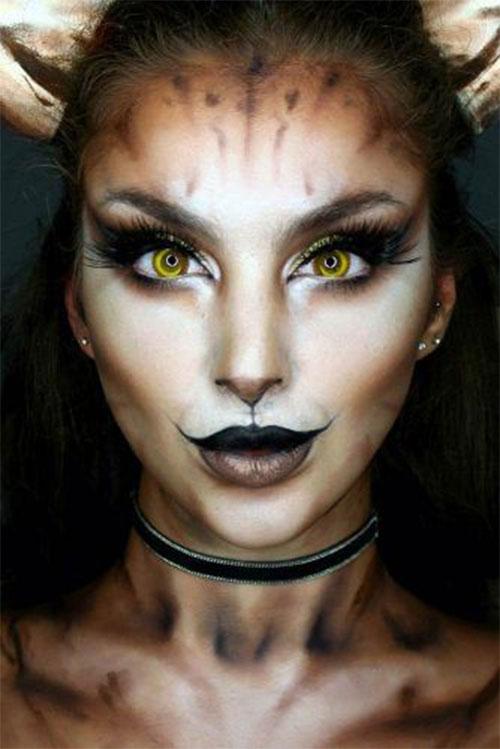 Cute-Easy-Deer-Make-up-Ideas-For-Halloween-2021-9