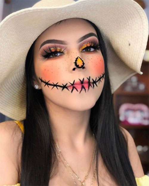 Scary-Scarecrow-Halloween-Makeup-Looks-2021-11