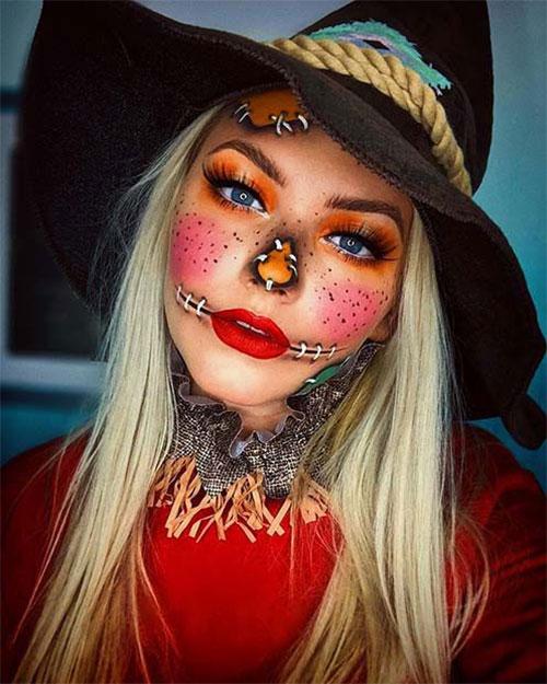 Scary-Scarecrow-Halloween-Makeup-Looks-2021-13
