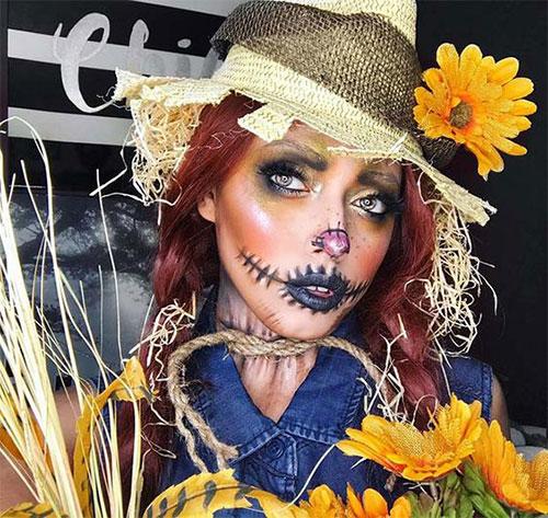 Scary-Scarecrow-Halloween-Makeup-Looks-2021-14