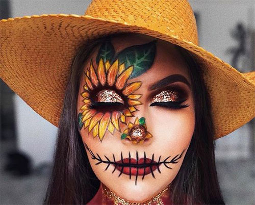 Scary-Scarecrow-Halloween-Makeup-Looks-2021-15