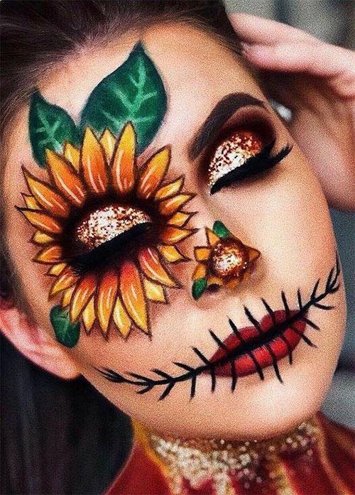 Scary-Scarecrow-Halloween-Makeup-Looks-2021-2