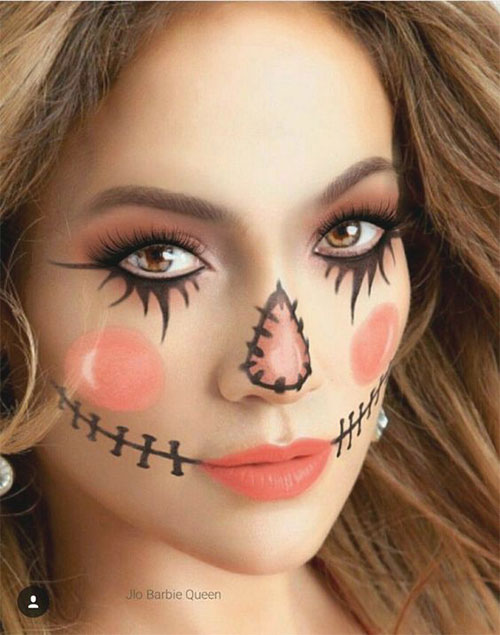 Scary-Scarecrow-Halloween-Makeup-Looks-2021-5