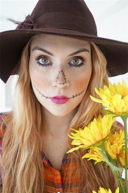 Scary-Scarecrow-Halloween-Makeup-Looks-2021-7