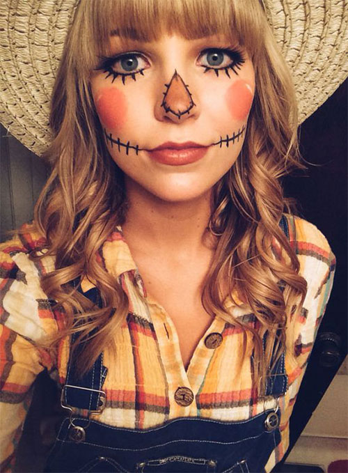 Scary-Scarecrow-Halloween-Makeup-Looks-2021-8