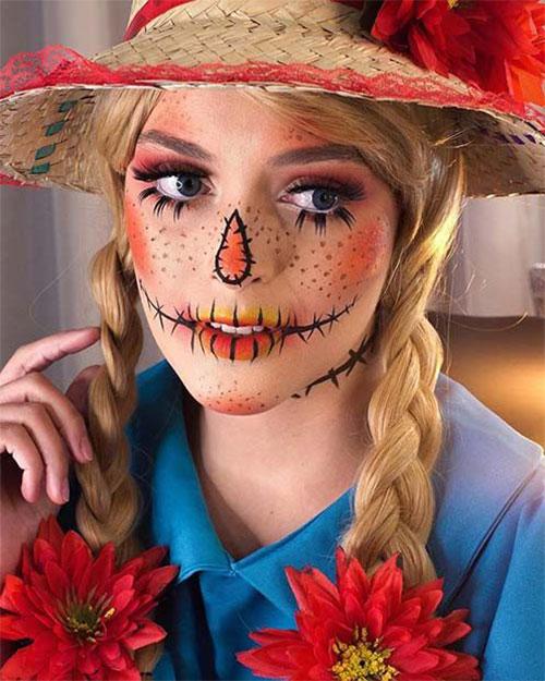 Scary-Scarecrow-Halloween-Makeup-Looks-2021-9