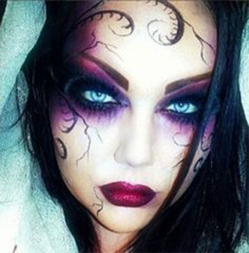 Witch-Halloween-Make-Up-Looks-Ideas-2021-15