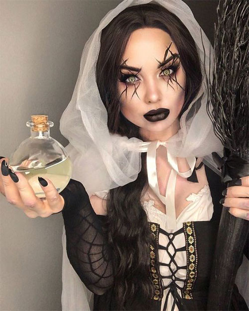 Witch-Halloween-Make-Up-Looks-Ideas-2021-8